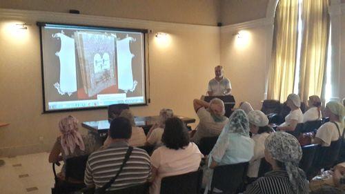 Лекция для паломников в Иерихоне