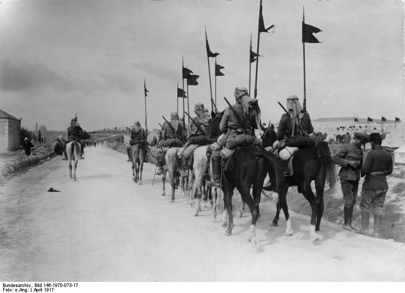 Османская кавалерия в окрестностях Иерусалима. Апрель 1917 года