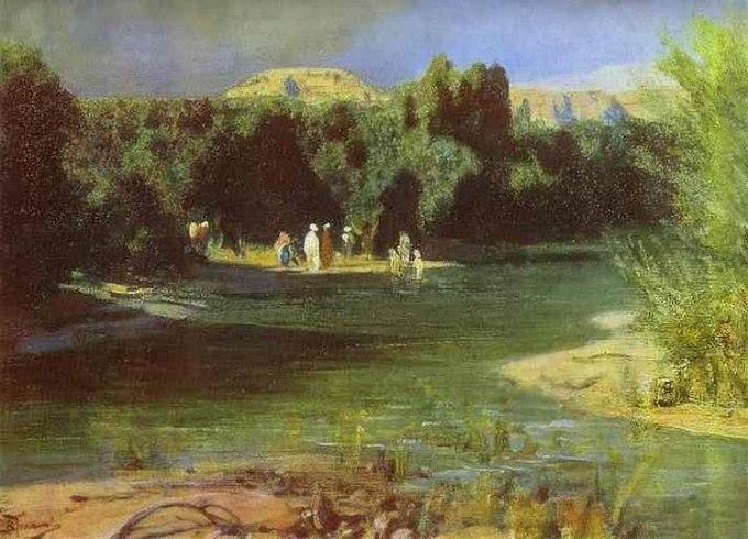 Поленов Василий Дмитриевич Крещение. Из серии «Жизнь Христа» 1887-88 гг.