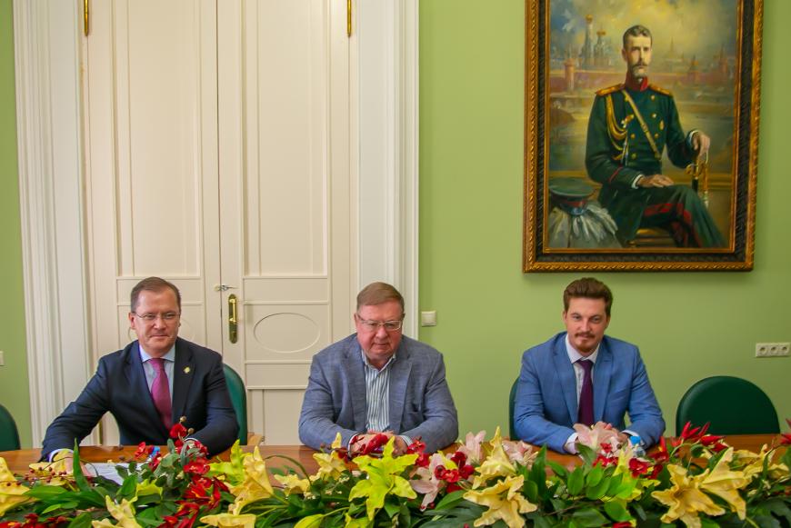 Встреча Сергея Степашина с архиепископом ЕЛЦ Дитрихом Брауэром