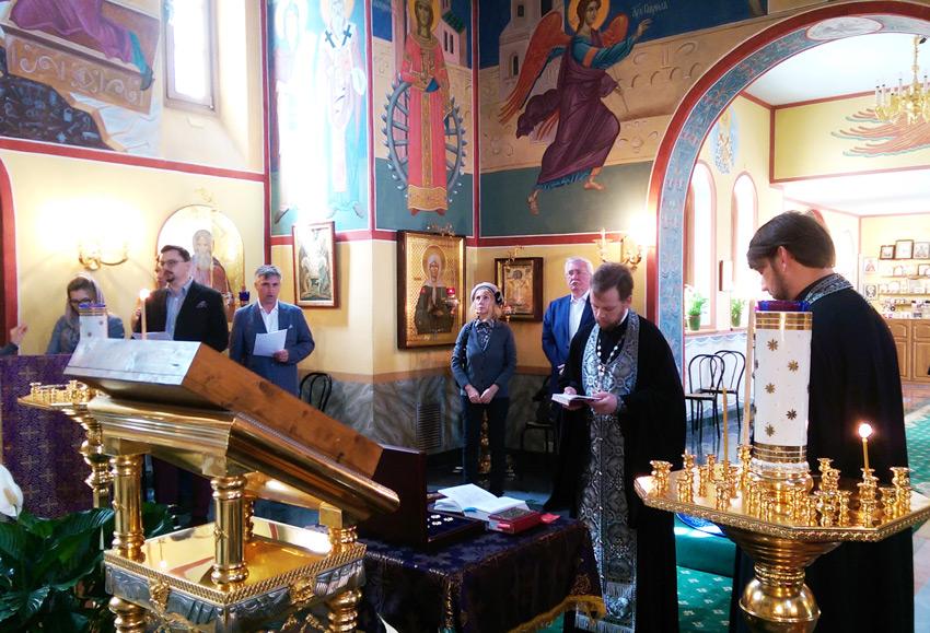 Благодарственный молебен в храме Святой Екатерины